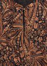 Mango - Brown Flowy Printed Dress