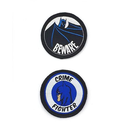 FABRIC FLAVOURS - Fabric Flavours Batman Gotham Defender Duo Medium Badges [2 Pack]