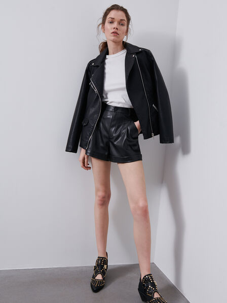 Reserved - Black Faux leather shorts