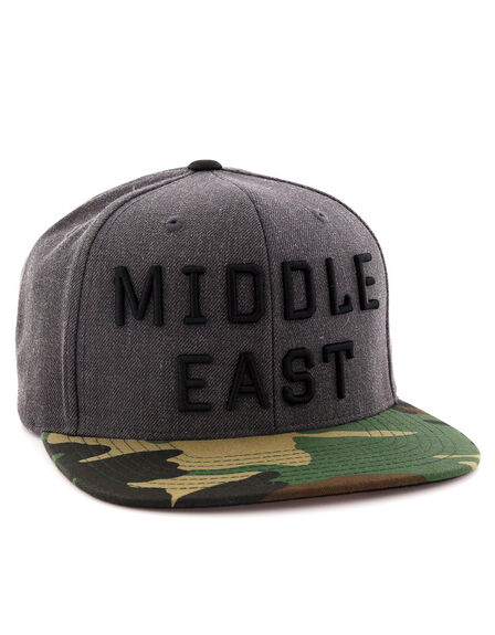 ONE8 - One8 Middle East English Flat Brim Snapback Camo/Gray Cap