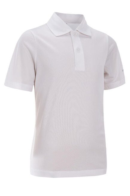 ARTENGO - 100 kids' tennis polo - white