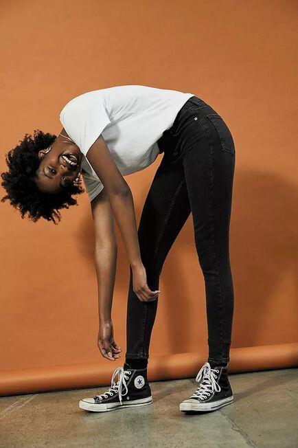 Urban Outfitters - Black BDG Pine Worn Black Skinny Jeans