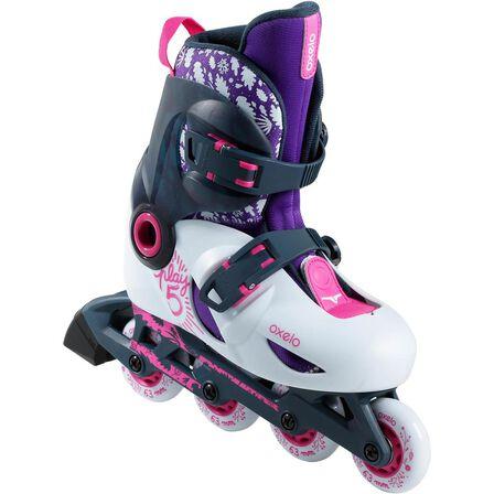 OXELO - EU 32-34  Play 5 Kids' Inline Skates, Lunar Grey