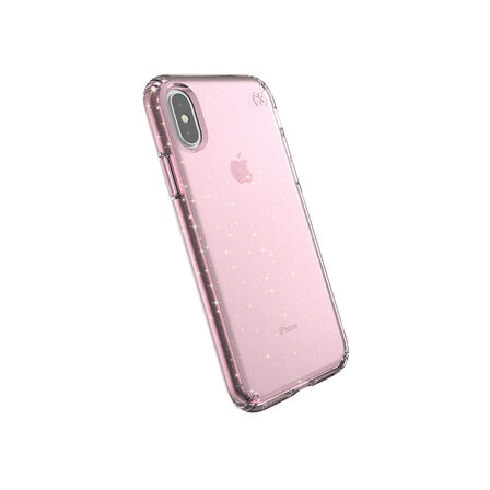 SPECK - Speck Presidio Clear + Glitter Case Bella Pink with Gold Glitter/Bella Pink for iPhone XS