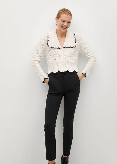 Mango - black Crop skinny trousers