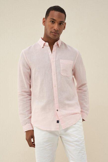Salsa Jeans - Pink Slim fit linen shirt