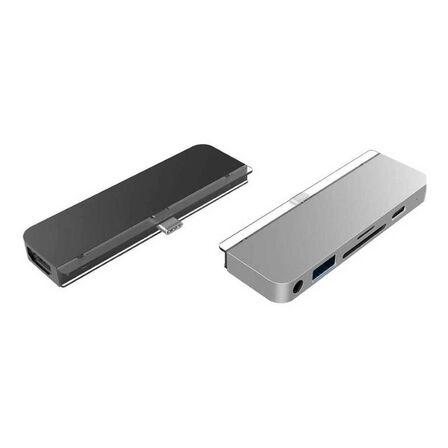 HYPER - Hyperdrive 6-In-1 USB-C Hub Grey for iPad Pro 2018