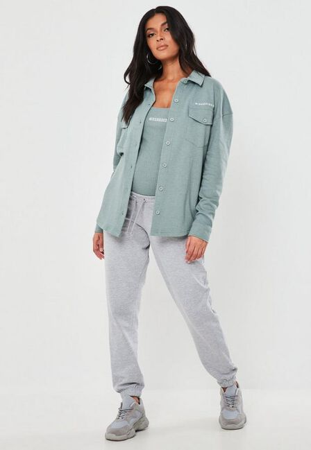 Missguided - Grey Marl 90S Maternity Joggers
