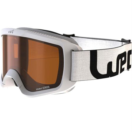 WEDZE - Small/Medium  CHILDREN'S AND ADULT'S GOOD WEATHER SKIING AND SNOWBOARDING GOGGLES G140, Snow White
