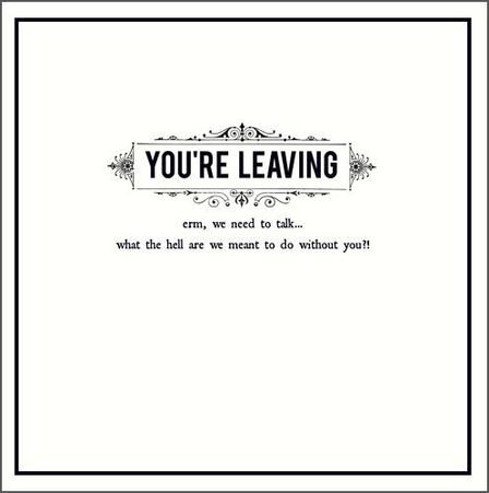 PIGMENT PRODUCTIONS - Pigment Alice Scott Leaving We Need To Talk Greeting Card