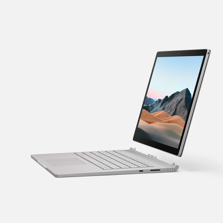 MICROSOFT - Microsoft Surface Book 3 All-in-One Business Laptop i5 1035G7 10th Gen/8GB/256GB SSD/Iris Plus Graphics/13.5 inch Display/Platinum