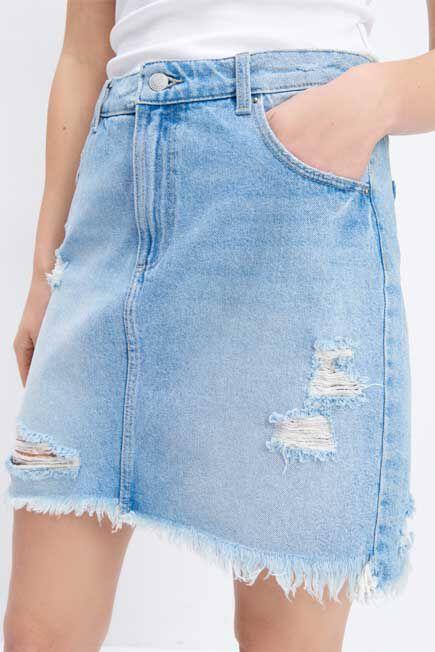 Mohito -  Mini Denim Skirt - Blue
