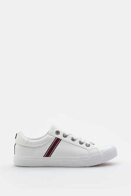 Mohito -  Imitation Leather Sneakers - White