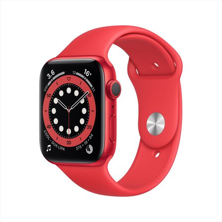 APPLE - Apple Watch Series 6 GPS 44mm Product(Red) Aluminium Case with Product(Red) Sport Band