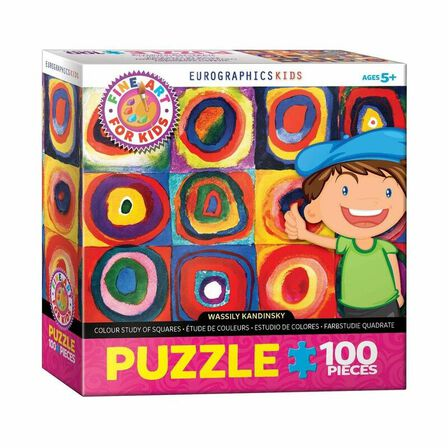 EUROGRAPHICS - Eurographics Color Study of Squares By Wassily Kandinsky 100PCs Kids Puzzle