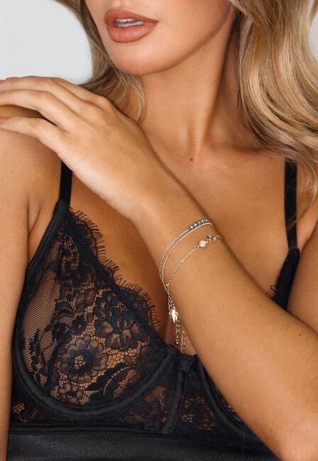 Missguided - Gold Fine Charm Bracelet Pack, Women