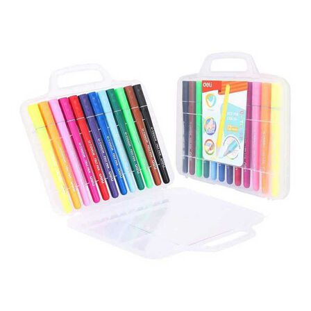 DELI - Deli Felt Pen 12 Colors