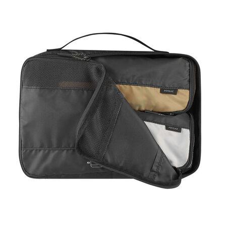 FORCLAZ - Unique Size  Kit of 3 Trekking Travel Storage Bags TRAVEL, Carbon Grey