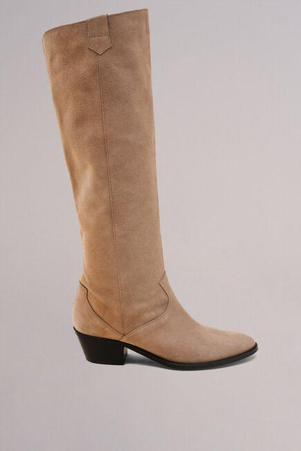 Salsa Jeans - Beige Mid-heel leather boots