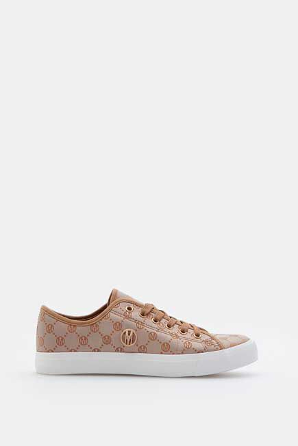 Mohito -  Sneakers With A Decorative Print - Beige