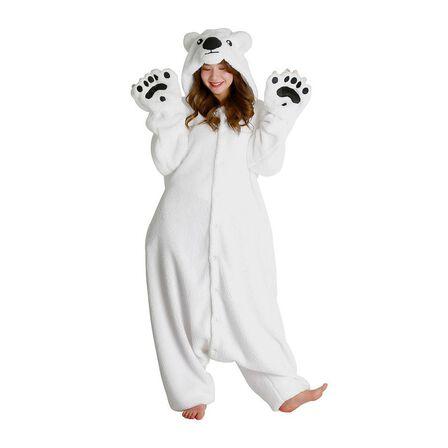 SAZAC - Kigurumi Polar Bear Unisex Costume White