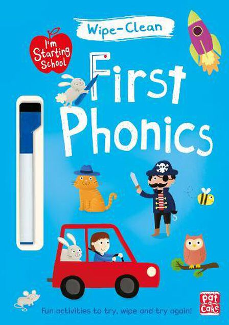 QUERCUS UK - First Phonics Wipe-Clean Book with Pen