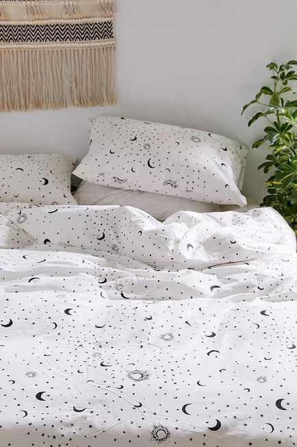 Urban Outfitters - Black/White Moon Duvet Cover Set