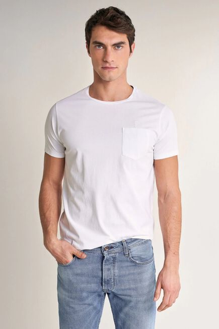 Salsa Jeans - White T-shirt with plant dye and pocket
