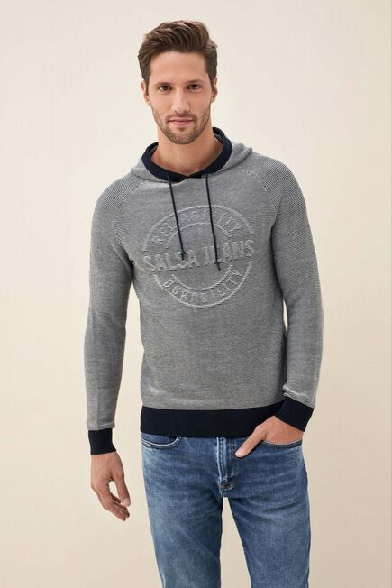 Salsa Jeans - Blue Hoodie with logo