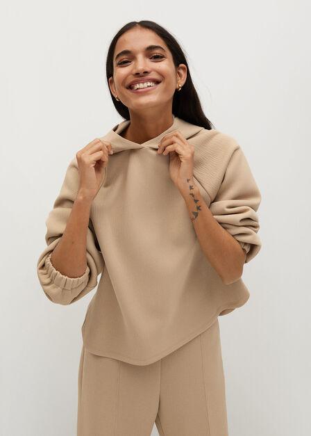 Mango - light beige Cotton hoodie