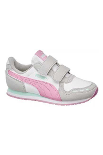 Puma - White Cabana Racer Sneaker, Kids