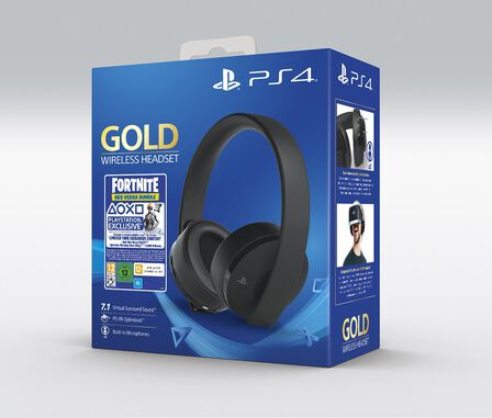 SONY COMPUTER ENTERTAINMENT EUROPE - Sony Gold Wireless Gaming Headset for PS4 + Fortnite Voucher 2019