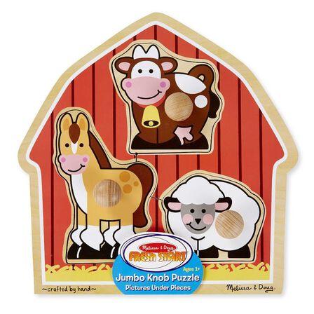 MELISSA & DOUG - Melissa & Doug Barnyard Animals Jumbo Knob