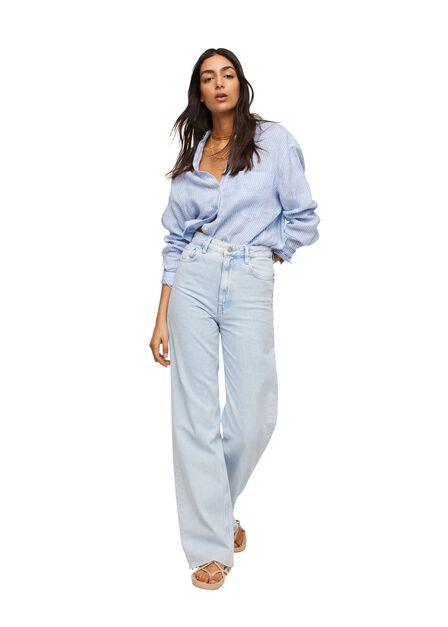 Mango - open blue Wide leg high waist jeans, Women