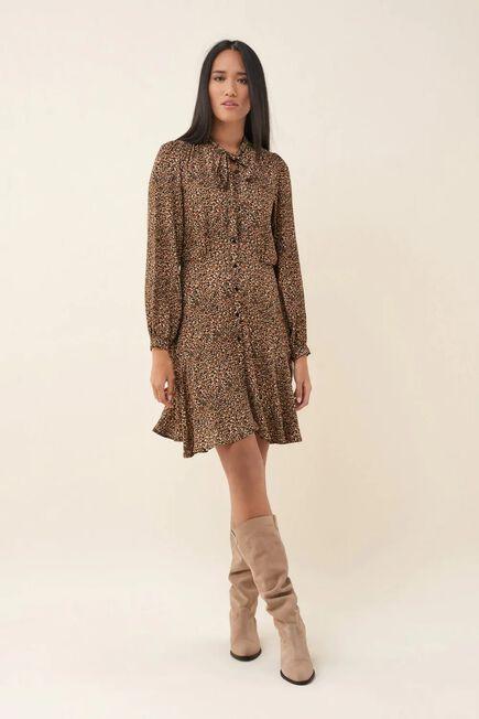 Salsa Jeans - Orange Leopard print dress