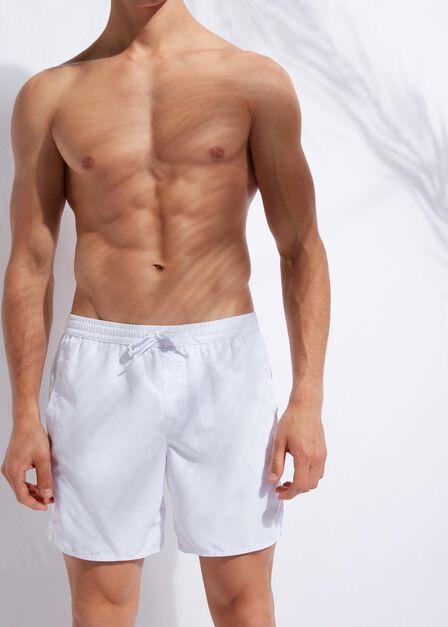 Calzedonia - WHITE Men's Boxer Swim Shorts Formentera