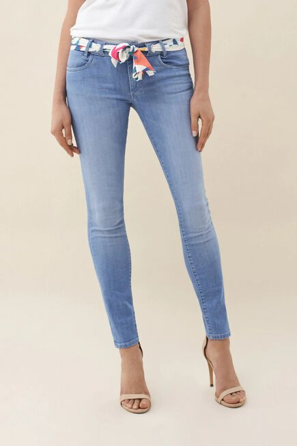 Salsa Jeans - Blue Push Up Wonder skinny jeans with scarf
