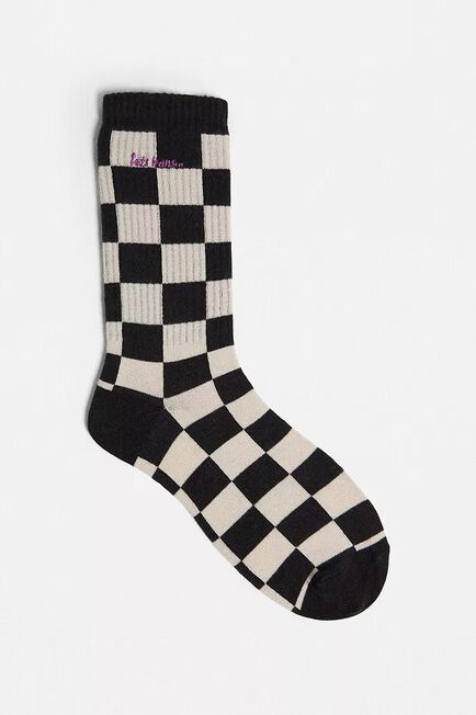 Urban Outfitters - Black Iets Frans'.. White & Black Checkerboard Socks
