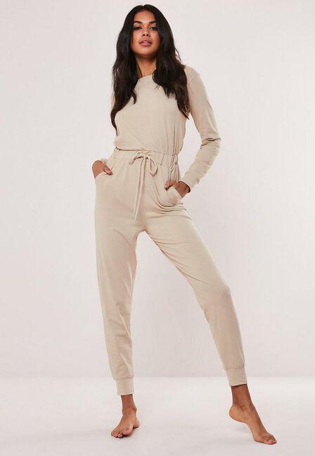 Missguided - Beige Casual Loungewear Jumpsuit