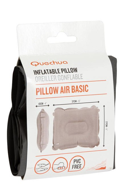 QUECHUA - Unique Size  INFLATABLE CAMPING PILLOW - AIR BASIC, Default