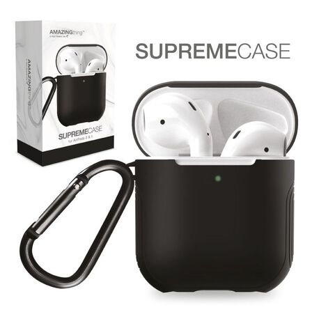 AMAZING THING - Amazing Thing Supremecase Guard Space Grey For Airpods With Carabiner