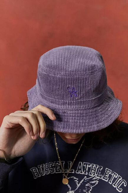 Urban Outfitters - Purple UO Nomad Corduroy Bucket Hat
