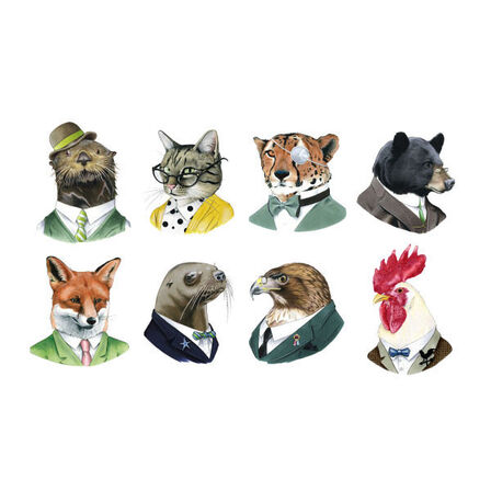 TATTLY - Tattly Animal Society Temporary Tattoo Set