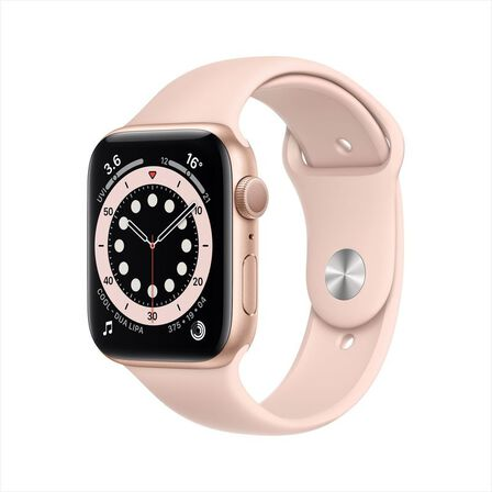 APPLE - Apple Watch Series 6 GPS 44mm Gold Aluminium Case with Pink Sand Sport Band
