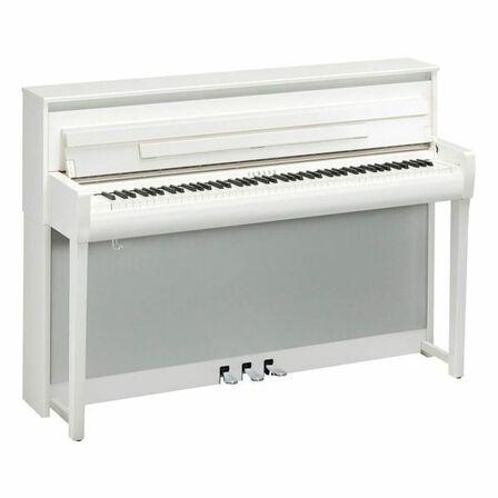 YAMAHA - Yamaha CLP-785 Digital Piano with Bench Polished White