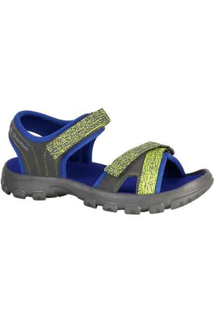 QUECHUA - NH100 JR Children's Hiking Sandals - Blue, EU 34-35