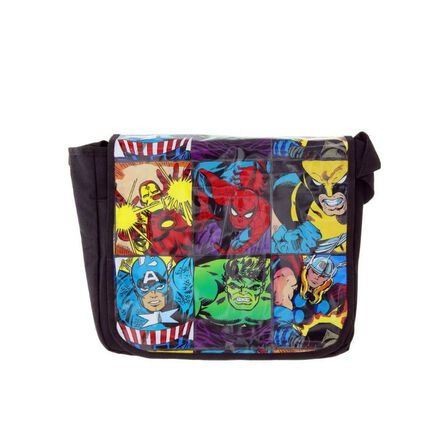 SILVER BUFFALO - Marvel Heroes Grid Messenger Bags 15 InchX13 Inch