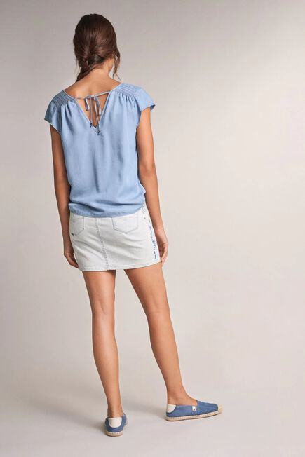 Salsa Jeans - Blue Tunic with cinched shoulders