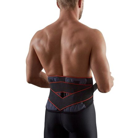 TARMAK - Mid 500 men's/women's supportive lumbar brace - black, 3