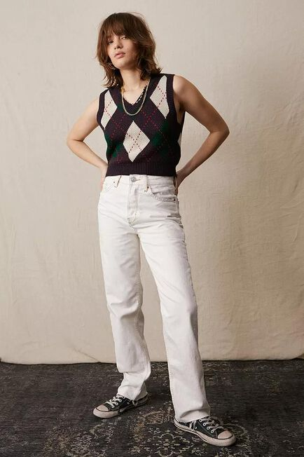 Urban Outfitters - WHT BDG White Pax Straight Leg Jeans